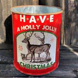 Have a Holly Jolly Christmas Small Metal Can
